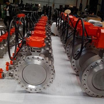 Bidirectional Pressure Metal Seal Butterfly Valve, Triple Offset, with Gear Wheel