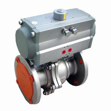 Pneumatic floating ball valve with hard seal